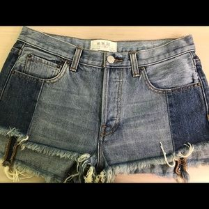 Free People denim cutoff shorts